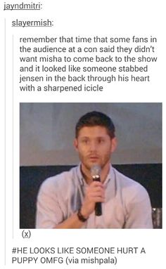 Who wouldn't want Misha to come back?????