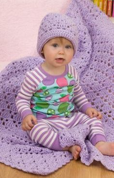 One Ball Baby Blanket and Hat - Just downloaded the pattern, loads of nice ones on the same site.