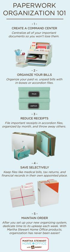 Paperwork Organization 101 |Martha Stewart
