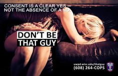 This college's anti-rape campaign pulls no punches when it comes to the message: Don't rape.