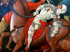 Pala di Sant'Andrea detta anche Pala di San Ginesio 1463 - Nicola da Siena Detail of Men at Arms
