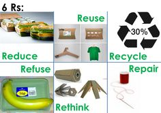 6R's   Reduce, Reuse, Recycle, Refuse, Rethink & Repair Display Boards For School, School Displays, Reduce Reuse Recycle, Ways To Recycle, Recycling, Umbrella Art, Learning Methods, Circular Economy, Book Stands