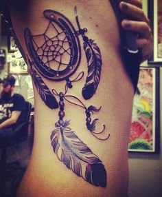 dream catcher - horse shoe. I kind of love this!