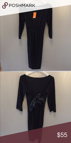 NWT black bow dress Stretchy comfortable material Isabella Oliver Dresses