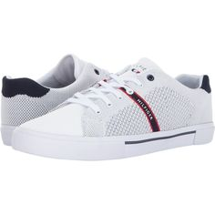 best service 9cc33 305ff Tommy Hilfiger Pronto (White) Men s Shoes ( 45) ❤ liked on Polyvore  featuring men s fashion, men s shoes, men s sneakers, white, mens shoes, ...