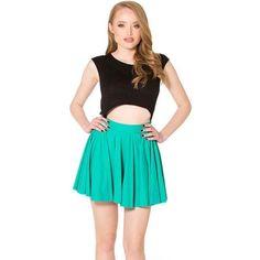 Matte Jade Cheerleader Skirt › Black Milk Clothing - S (waistband needs fixing) Black Milk Clothing, Hot Outfits, Girl Outfits, Cheerleader Skirt, Female Poses, Sweet Style, My Black, Flare Skirt, Mini Skirts
