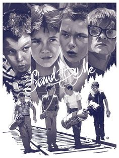 Stand by Me (Even More Cool Art from the Stephen King Art Show - The Shining, Gunslinger and More — GeekTyrant) Poster S, Movie Poster Art, Film Posters, Cool Movie Posters, Beau Film, 80s Movies, Good Movies, Stand By Me, Love Movie