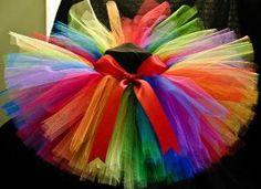 Rainbow Love Tutu SEWN size 4/5 by DixieKids on Etsy