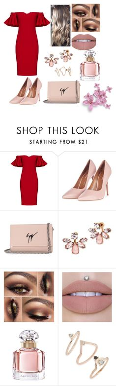 """Untitled #1548"" by merypr ❤ liked on Polyvore featuring Badgley Mischka, Topshop, Giuseppe Zanotti, Marchesa and Guerlain"