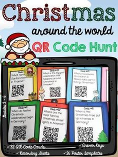 Use these 32 QR Code Cards to enlighten your students with customs… Activity Based Learning, Learning Activities, Teaching Resources, Classroom Activities, Classroom Ideas, Holidays Around The World, Around The Worlds, Early Finishers, Writing Lessons
