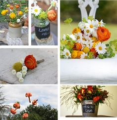 Floral design red and orange by passion for flowers