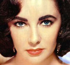 Elizabeth Taylor  Her blue eyes make the sky look pale, but what else? She won two Oscars, one for each beautiful eye. She won for Best Actress in a Leading Role in Who's Afraid of Virginia Woolf? & Best Actress in a Leading Role in Butterfield 8.