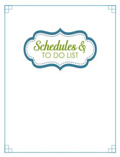 31 Days of Home Management Binder Printables: Day #31 Section Dividers