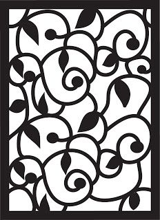 Paper Pulse Blog Spot: Swirls, Leaves, and Curls Pattern - studio and svg free cutting files!