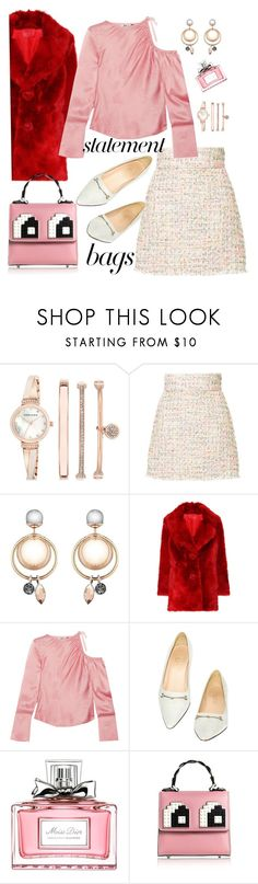 """""""Funny bag"""" by giotibi ❤ liked on Polyvore featuring Anne Klein, Bambah, Prada, Topshop Unique, Gucci, Christian Dior, Les Petits Joueurs and statementbags"""