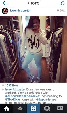 Thats Lauren Kitt Carter wearing our white Wifey slouchy sweater!! She also wears in the  her new VH1 show with husband Nick Carter of the Backstreet Boys!!