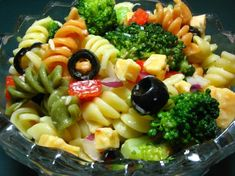 Pretty Party Pasta Salad from Food.com:   This a pretty, easy to make salad for a party, or just for that special someone.