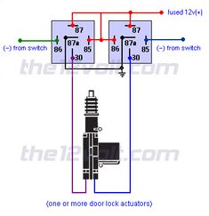 wire diagram negative door trigger with double trigger relay | Relay Diagrams - Quick Reference (Last Updated: 6/17/2014)