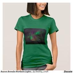 Aurora Borealis Northern Lights Trees Nature Lands