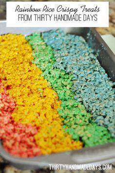 Rainbow Rice Crispy Treats