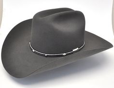 f0ada81a38ea2 Stetson Angus 6X Fur Felt Hat-Granite Grey