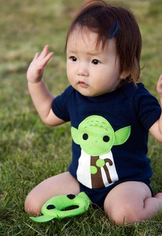 Yoda Onesie! Gotta get this for Tim. (Plus lots of other characters also!)