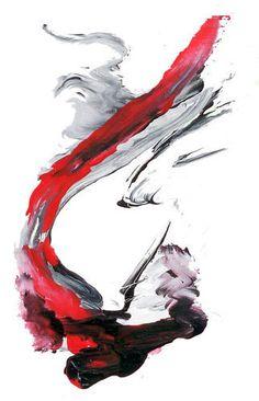 *Kayem Art Poster Red Dragon Hochglanz handsigniert