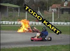 Garoto de 13 anos sai ileso de kart que pegou fogo durante competição na Argentina.   VeloxTV