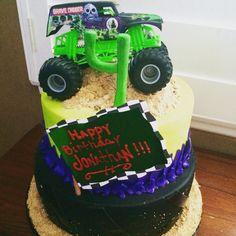 Monster Jam themed Happy Birthday Cake