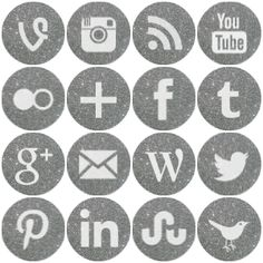 Social media icon set by greenleaf imaging free download clean free round silver sparkle social media icons reheart Gallery