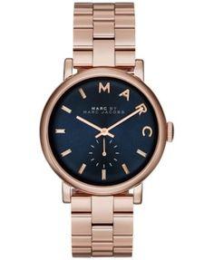 Marc by Marc Jacobs Women's Baker Rose Gold-Tone Stainless Steel Bracelet Watch 36mm MBM3330 | macys.com