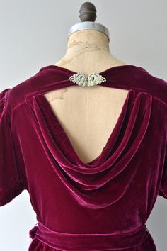 Pirazzini silk velvet dress 1930s silk velvet dress by DearGolden
