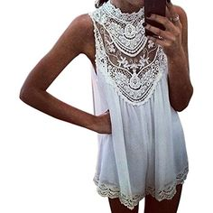 New brand casual mini dress for all female Material: Lace + #Chiffon Size of Asian L, it suits for US XS/S/M Shoulder 35cm/13''-14'', collar about 22cm/8''-9'', ...