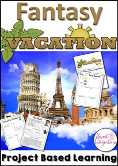 Project Based Learning: Plan a Fantasy Vacation; End the year with this high-interest project based learning unit. To plan a Fantasy Vacation, you are given a budget of $3000 and you are to plan a fantasy vacation to a destination of your choice. Decide how you will spend 5 days and nights on your dream vacation. This 21st Century Learning vacation product provides problem solving, math, digital learning, and writing. 3rd, 4th, 5th and 6th grades will love this pbl unit.
