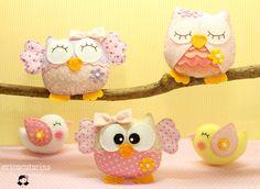 Estas vão para Sandra de Minas Gerais.  medida das corujinhas: 8 cm alt   Contato somente pelo blog. Blog Ei menina!