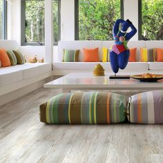 Club White Wood Grain Tile, Wood Look Tile, Tile Wood, Background Tile, Living Room Flooring, Floor Chair, Bean Bag Chair, Family Room, New Homes