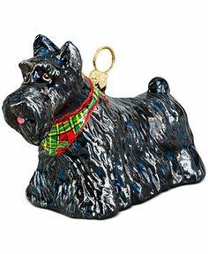 Joy to the World Pet Charity Ornament, Pet Set Scottish Terrier - Holiday Lane - Macy's