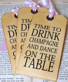 Drink Champagne via Etsy