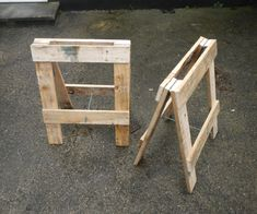 http://www.instructables.com/id/Trestle-from-pallets/
