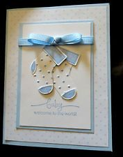 Stampin Up  Card Kit - Baby Card Boy and Girl
