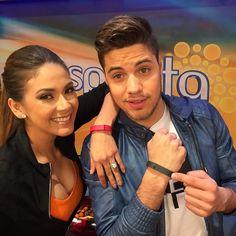 Amy Bravo and William Valdez on Univision's morning show, Despierta America.