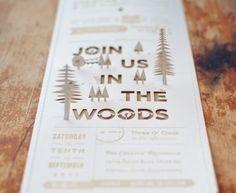 Christine + Ian's DIY Woodland Wedding Invitations… Handmade Wedding, Diy Wedding, Dream Wedding, Wedding Day, Woodsy Wedding, Camping Wedding, Trendy Wedding, Wedding Themes, Wedding Photos
