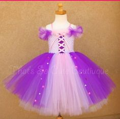 Rapunzel tutu dress. I need to make this for Ash.