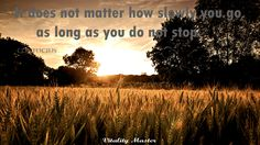 It does not matter how slowly you go as long as you do not stop. #VitalityMaster #motivational #quotes #thoughts #selfhelp  #inspirational