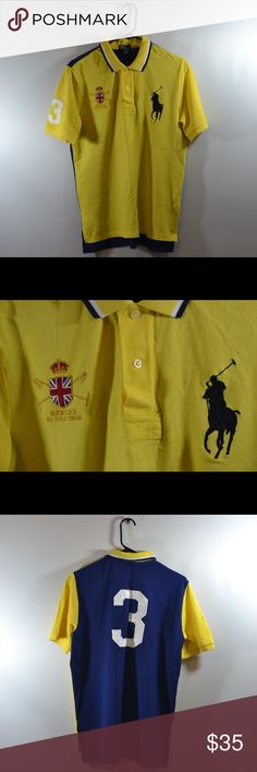 """Ralph Lauren Polo Mercer Team Polo Size XL 18/20 Ralph Lauren Polo Mercer Team Polo Size XL 18/20. Measured in inches laid flat Chest:19.5"""",Length:26"""",Sleeve:9.5"""" Polo by Ralph Lauren Tops Button Down Shirts"""
