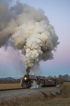 The small village of Goodview, Virginia, was greeted just before sunrise on the morning of Feb 11, 2016, by an impressive display of steam from N&W class J number 611 as it led train 955 along the former Virginian mainline. The temperature was in the high teens, making the exhaust that much more impressive. The J departed Roanoke at 6:10 a.m., leaving its home of the Virginia Museum of Transportation, headed to the N.C. Transportation Museum in Spencer.