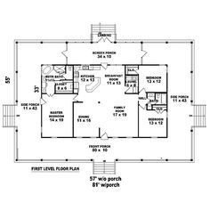 southern style house plan 3 beds 2 baths 1700 sqft plan 44 104 other floor plan houseplanscom house plans pinterest house plans other and