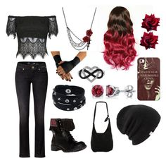 """""""Black and Red"""" by avagrods on Polyvore"""