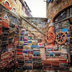 Wet books in the Lagoon. A cool and unconventional corner of Venice, Italy. Just go there... Books will do the rest!