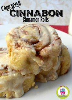 This easy Copycat Cinnabon Cinnamon Rolls Recipe is delicious and will have your. This easy Copycat Cinnabon Cinnamon Rolls Recipe is delicious and will have your family singing your praises! These cinnamon rolls are great for breakfast or dessert! Copycat Cinnabon Recipe, Copycat Recipes, Best Cinnamon Rolls, Biscuit Cinnamon Rolls, Overnight Cinnamon Rolls, Cinnamon Roll Icing, Easy Homemade Cinnamon Rolls, Cinnamon Roll Recipes, Bread Machine Cinnamon Rolls